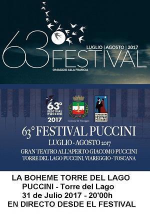 ÓPERA LIVE, LA BOHEME DE TORRE DEL LAGO